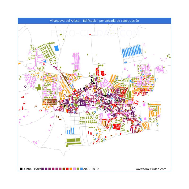 Villanueva Del Ariscal Mapa.Habitantes Villanueva Del Ariscal 1900 2019